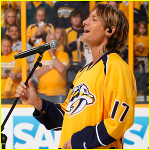Keith Urban Sings the National Anthem for the First Time at NHL Finals