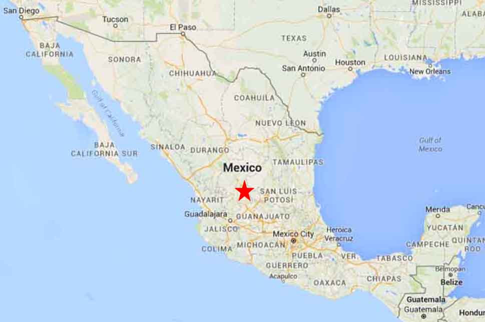 Zacatecas Mexico Map Zacateca Mexico Map | States Maps