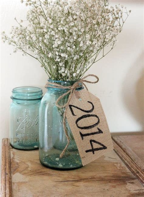 class of 2014 . rustic country burlap table tags . barn