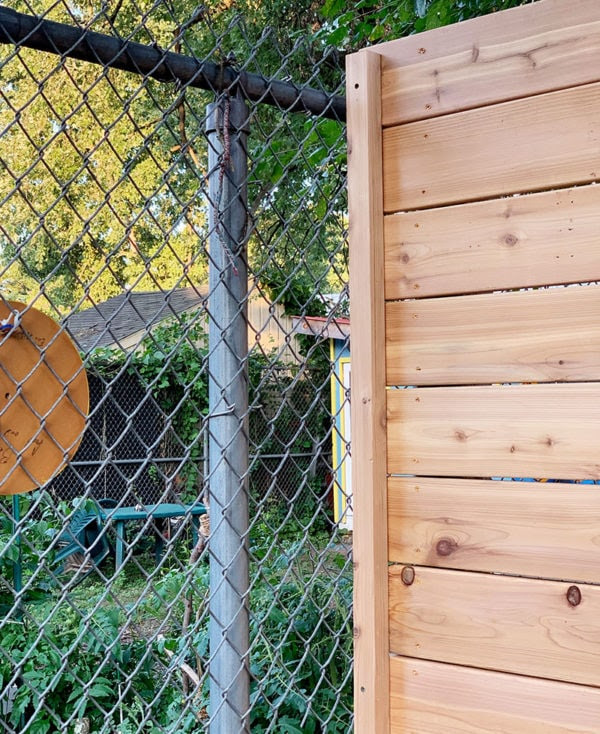 Bluestone Backyard Concrete Fencing And Covering Chain Link With Wood Daniel Kanter