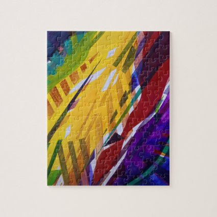 The City II - Abstract Rainbow Streams Jigsaw Puzzle