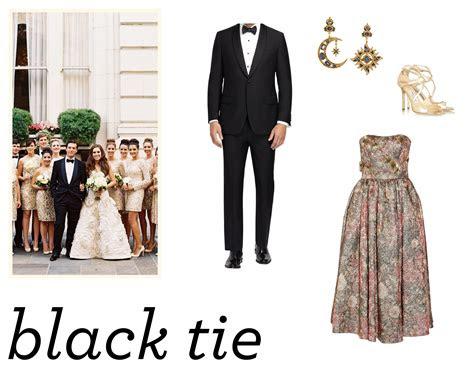wedding attire black tie  nouveau romantics