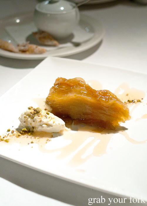 Mille mele thousand layers of apples dessert at Buon Ricordo, Paddington