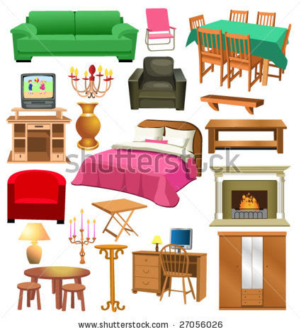 Things In The Bedroom Clipart - Bedroom in House