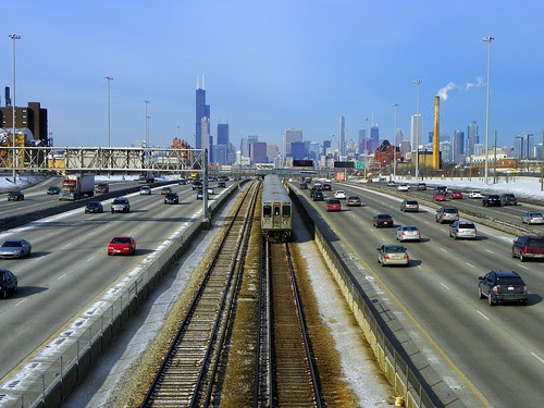 Chicago skyline from Pershing / 90 94