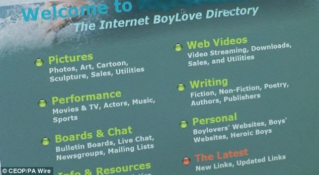 The paedophile ring revolved around boylover.net, which has since been shut down