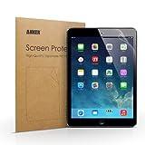 Anker® iPad Air/Air2用 2枚セット 液晶保護フィルム 高精細度 光沢仕上げ 日本産の高品質PET素材使用 汚れ・シミ防止加工