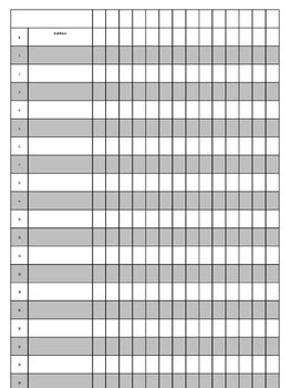Free Editable Grade Sheet by ladyjane   Teachers Pay Teachers