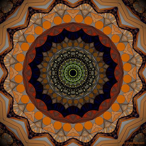 Geometric Art: Kaleidoscope of Gecko Patterns using iPad Apps, Software.