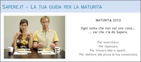 http://www.sapere.it/sapere/speciali/maturita-2010.html