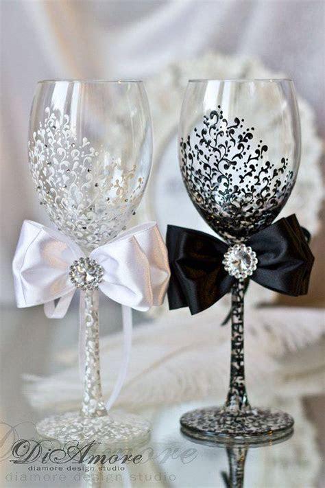 DIY Wedding Champagne Glasses Ideas   Kimberly James