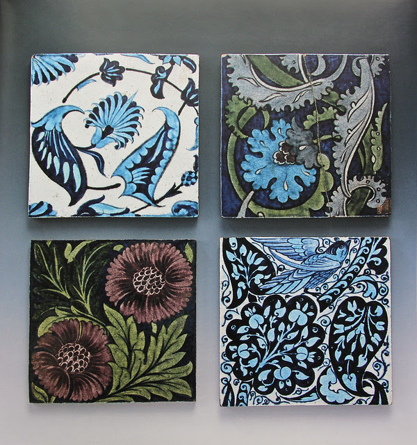 William De Morgan - tiles from the Chelsea Workshop 1872-81