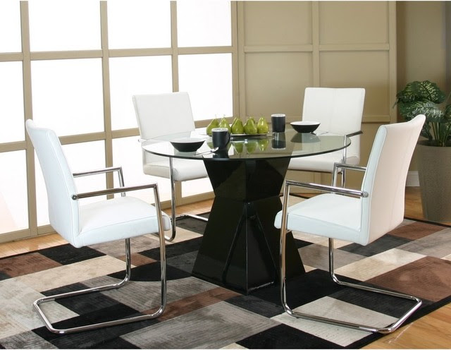 Cramco Virgo 5-Piece Dining Set - contemporary - dining tables