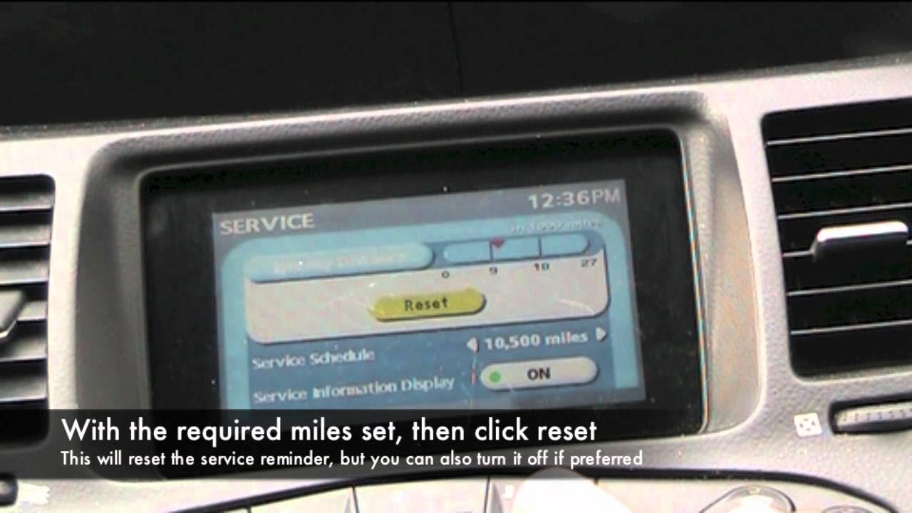 Nissan Primera Service Reminder Reset - YouTube