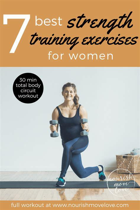 strength training exercises  women nourish