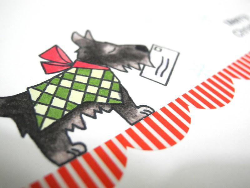 Scottie Dog Christmas (detail)