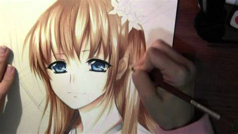 drawing anime girl  kimono youtube