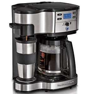 combination coffee makers: Hamilton Beach Two Way Brewer ...