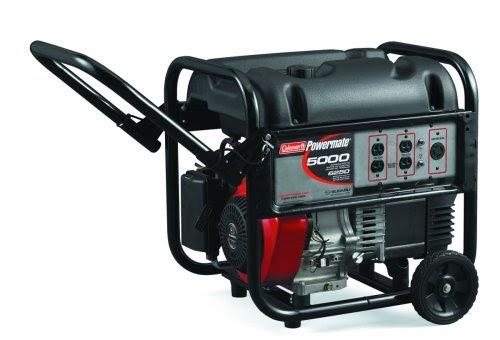 Generator    Guides  Portable    Generator    Coleman    Powermate    5 000 Watt PM0435003 10 HP