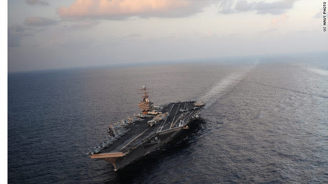 US back to two carriers near Iran