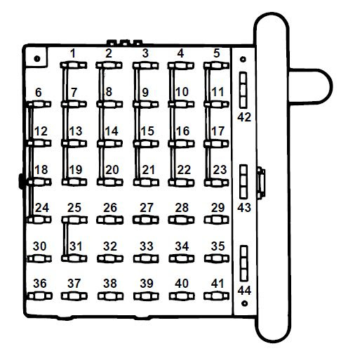 Ford E Series E 350 E350 1997 Fuse Box Diagram Auto Genius