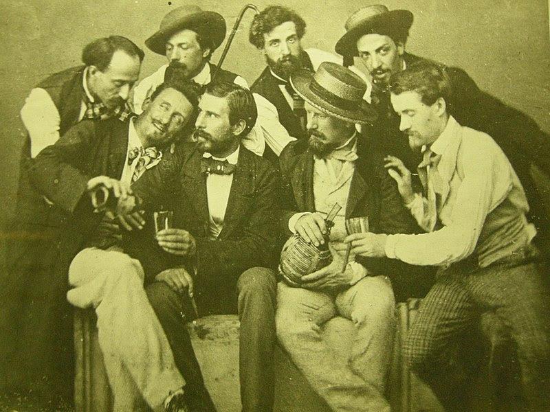 File:Gruppo di macchiaioili al caffè michelangelo, primi del '900.JPG