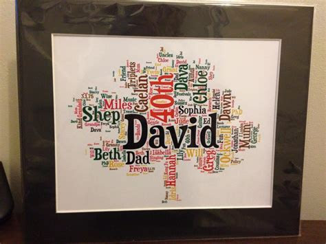 Personalised Family Tree Word Art ? Bought with Thought