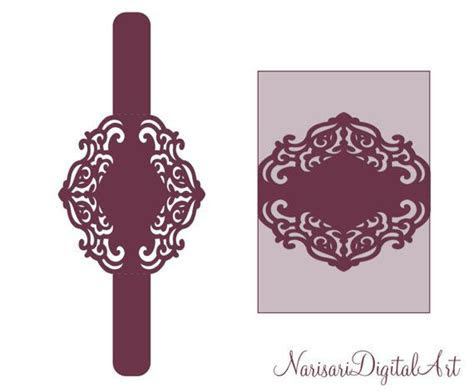 Wedding Invitation cutting file. Belly band by