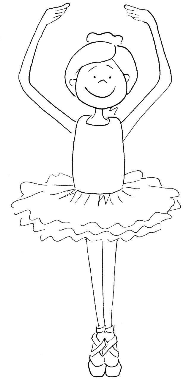 Top 10 Gorgeous Ballet Dancers Coloring Pages For Girls ... | 1291x636