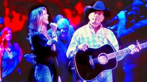 george strait  faith hill sing lets fall  pieces