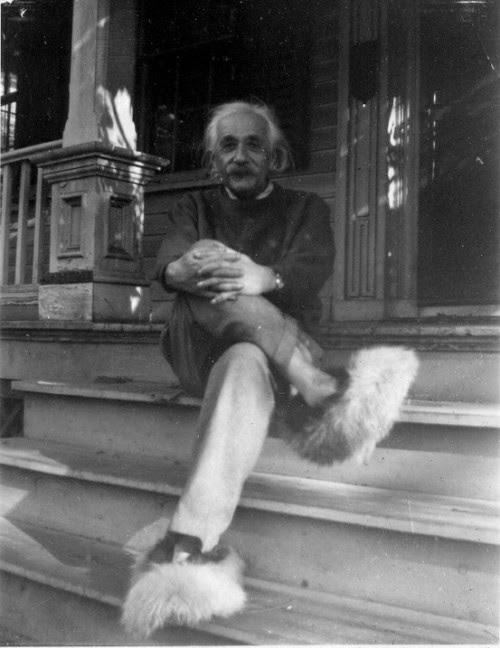 movement-and-yoga:  Albert Einstein in Fuzzy Slippers