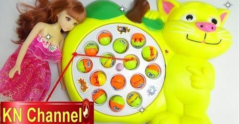 Đồ chơi trẻ em Bé Na & búp bê Lelia câu cá cho mèo ăn Fishing toy playset Childrens toys