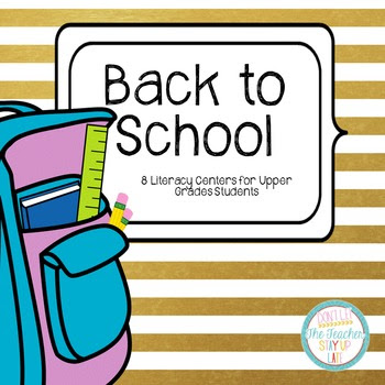 Back to School Literacy Centers - Comprehension and Word K