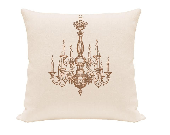"Decorative Throw Pillows, 18 x 18"" Pillow Covers, Silkscreen, purple and natural pillow, Chandelier pillow - gracioushome"