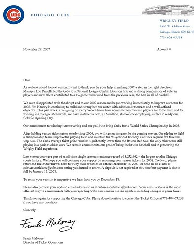 WF letter