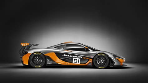 McLaren P1 race car side view HD desktop wallpaper : Widescreen : High Definition : Fullscreen