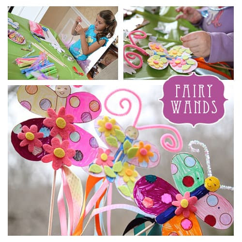 Fairy Princess festas Printable - Butterfly actividade partidária Wand