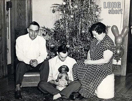 a vintage dachshund christmas