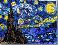 paper quilled Starry Night