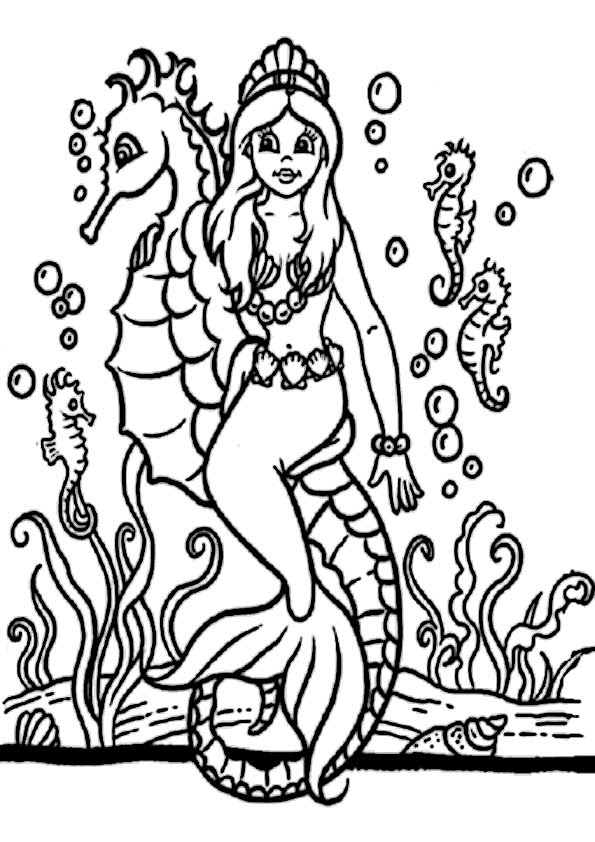 malvorlagen meerjungfrau kostenlos - malvorlagen