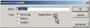 set registration point
