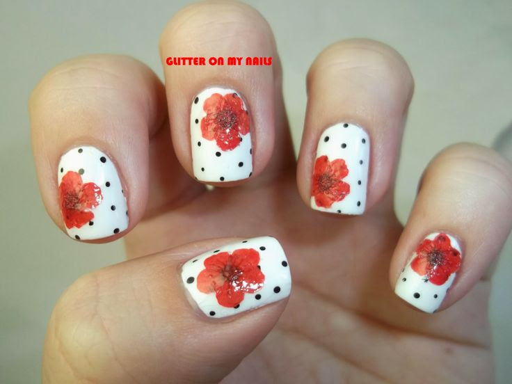 GLITTER ON MY NAILS: BPS DRY FLOWERS  POLKA DOTS @bornprettystore