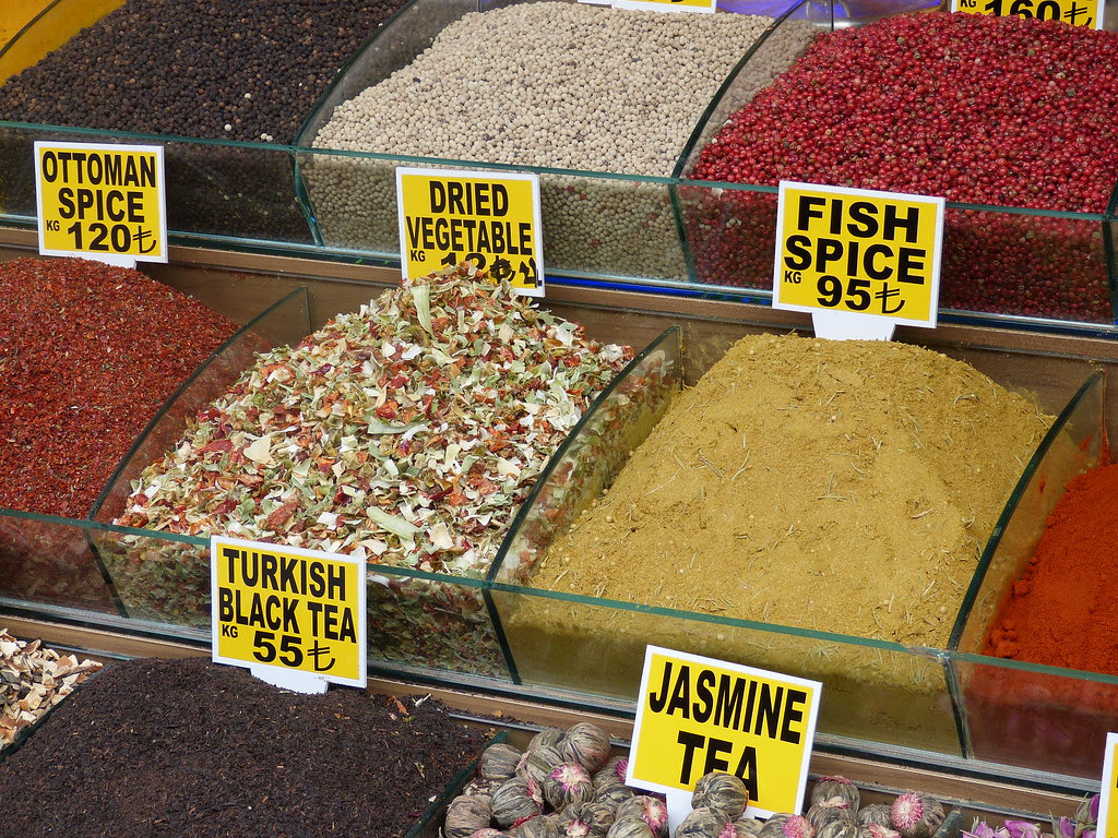 Spices in Arasta Bazaar, Istanbul