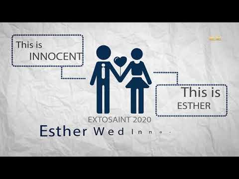 Esther and Innocent invitation graphics video