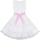 Girls Dress Elegant Design Princess Wedding Bow Tie Flower