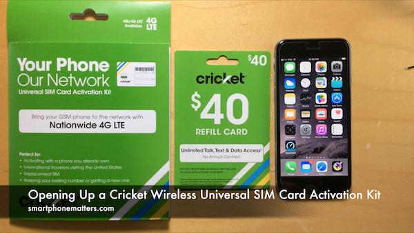 Opening Up a Cricket Wireless Universal SIM Card ...