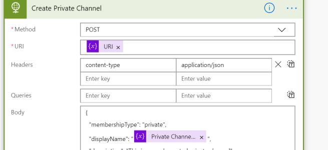Crear Canales Privados + API + Microsoft Teams