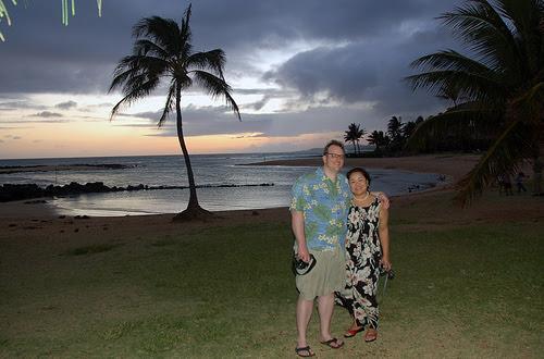 jim and celia poipu sunset - photo by angel