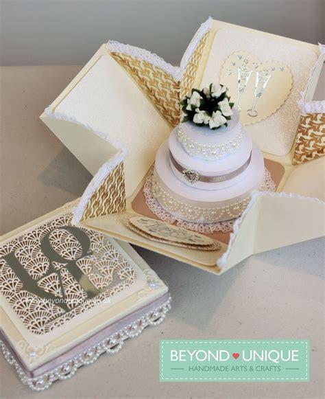 Pearl Wedding Anniversary Exploding Box Cake Design https