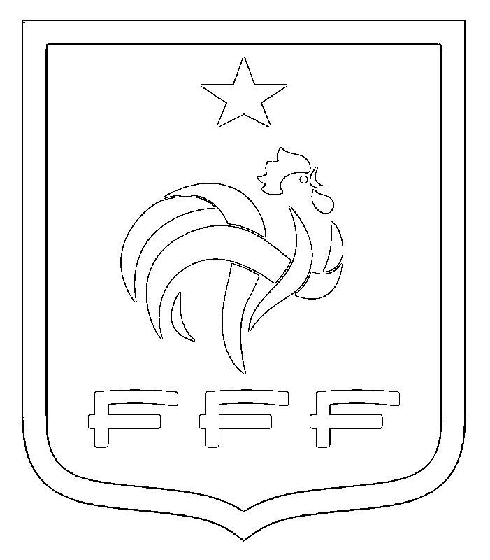 Coloriage Equipe De France De Football Ecusson équipe De France